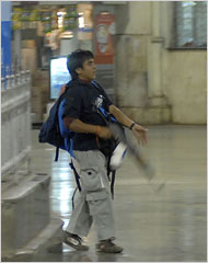 Kasab - The only terrorist suspect caught LIVE